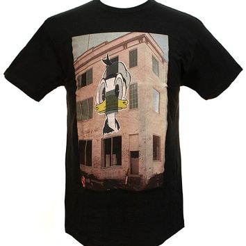 Disney Men's Donald Duck Wheatpaste Painted Mural T-shirt