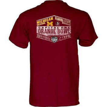 ICIKG8Q NCAA Florida State Seminoles vs Michigan Wolverines Orange Bowl Game Day T-Shirts