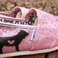 Love Pink TOMS by StellarKicks on Etsy