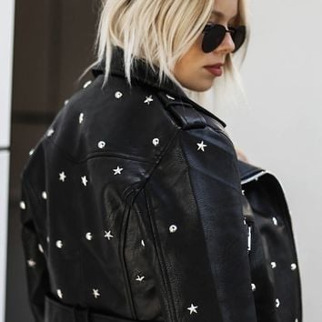 Star Studded Moto Jacket