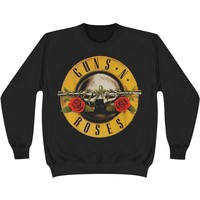 Guns N Roses Men's  Classic Logo Sweatshirt Black