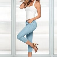 Seamless rib tank, color capri denim