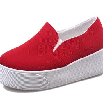 Womens Trendy Thick Sole Slip-On Casual Shoes