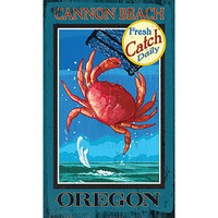 Personalized Cannon Beach Oregon Wood Sign