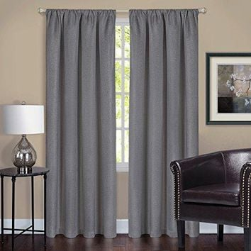 Ben&Jonah Collection Harmony Blackout Window Curtain Panel - 52x84 - Grey