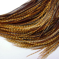 SKINNY FEATHER HAIR Extensions Tuftless by BellaRegaloFEATHERS