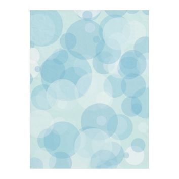 Blue Bubbles Fleece Blanket