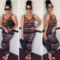 New Sexy Women Party Jumpsuit Backless Playsuit Bodycon Romper Trousers Clubwea