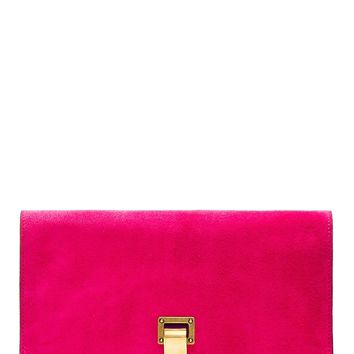 Proenza Schouler Ssense Exclusive Fuchsia Suede Small Lunch Bag Clutch