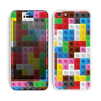 The Neon Colored Building Blocks Skin for the Apple iPhone 5c