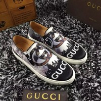 Gucci Men's Leather Fashion Casual Sneakers Shoes