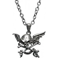 Cursed - old school tattoo necklace by UL13 / Alchemy Gothic