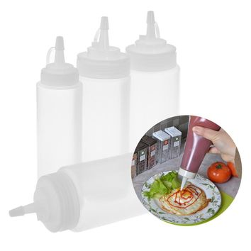 1Pc Durable Kitchen Accessories Mustard Vinegar Salad Sauce Oil Dispenser Squeeze Bottle Ketchup Jar Eco-Friendly