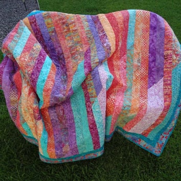 Lorikeet Jelly Roll Quilt