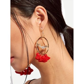 Tassel Design Statement Earrings