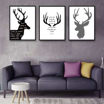 Deer & Bible Motivational Quotes