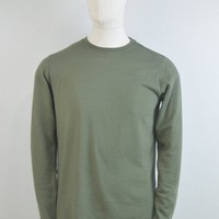 EDWIN Terry Long Sleeve T-Shirt - Olive Drab