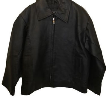 Kid's Wilsons Leather Classic Black Jacket Size M (4/5)