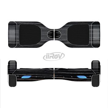 The Black Wood Texture Full-Body Skin Set for the Smart Drifting SuperCharged iiRov HoverBoard