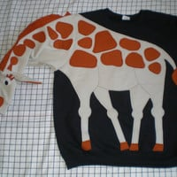 CUSTOM MADE GIRAFFE sweatshirt NeW iTeM convo to check for size