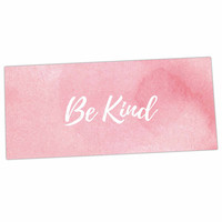 "KESS Original ""Be Kind"" Pink White Desk Mat"