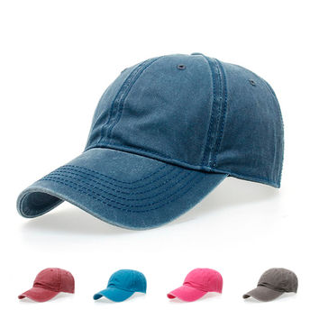 Casual Fast ball cap snap pass Canvas polo Hat Cap