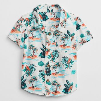 Print Short Sleeve Shirt | Gap