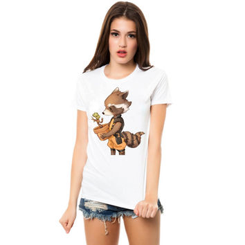 groot and rocket racoon best friend women tshirt ----- size S,M,L,XL,2L,3XL