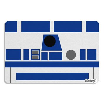 Blue and White Robot AOP Placemat All Over Print by TooLoud