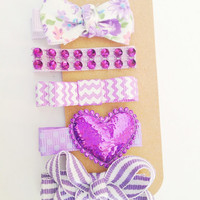 Simply Purple Clippie Collection -- Every Day hair clips in purple for baby, toddler, girls, teens