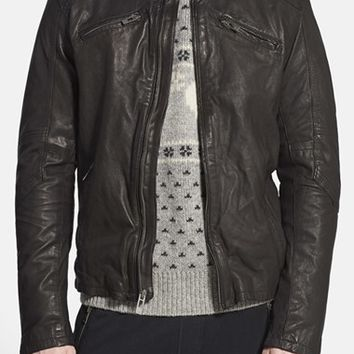 Men's Rogue 'Mustang' Black Leather Racing Jacket,