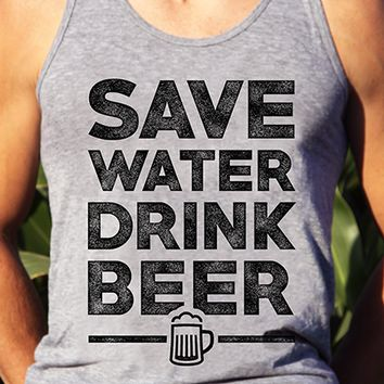 Save Water Drink Beer | Men's Tank Top