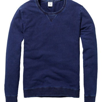 Home Alone Classic Indigo crew neck sweater - Scotch & Soda