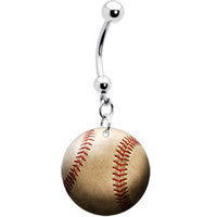 Baseball Belly Ring | Body Candy Body Jewelry