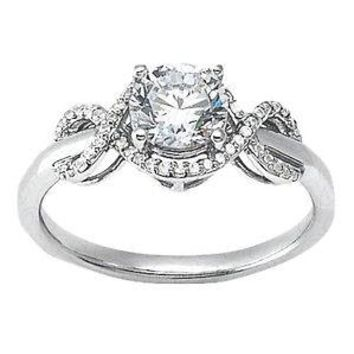 0.25 Ct. Infinity Semi Mounting Diamond Engagement Ring Center 1.0Ct. Gold