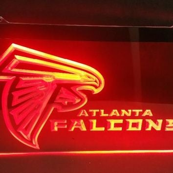 b-225 Atlanta Falcons Football beer bar pub club 3d signs LED Neon Light Sign man cave