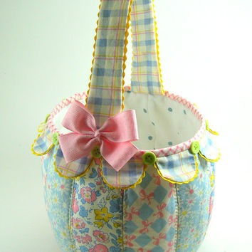 Easter Basket PDF Sewing Pattern Tutorial NEW by aSundayGirl