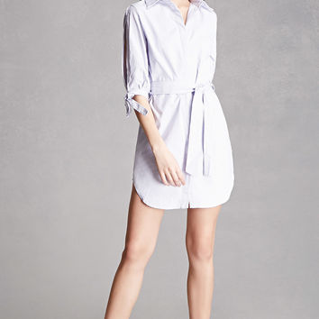 Vented-Sleeve Stripe Dress