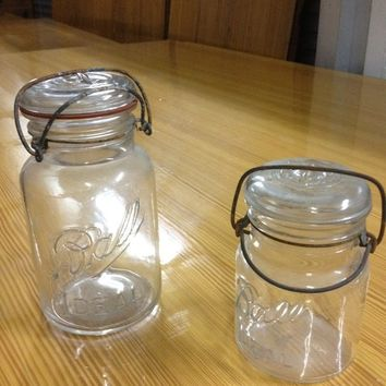 Antique glass Mason Ball Jars - vase, wedding