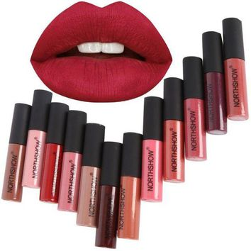 DCCKU7Q Fashion Makeup Matte Lipstick Long-Lasting Liquid Lip Makeup Tint Tattoo Lipstick Easy To Wear  Red Lip Gloss Cosmetic NJ65