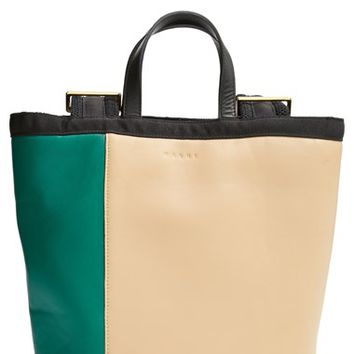 Women's Marni Colorblock Leather Backpack