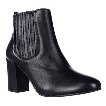 Steve Madden Gasto Block Heeled Chelsea Booties, Black, 8.5 US