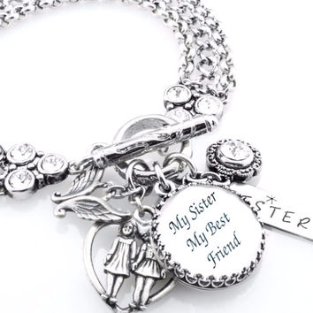 My Sister My Best Friend, Sister Charm Bracelet