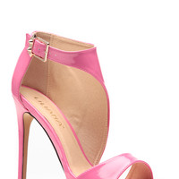 Liliana Pink Wrapped Patent Heels
