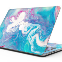 Marbleized Blue Paradise V45 - MacBook Pro with Retina Display Full-Coverage Skin Kit
