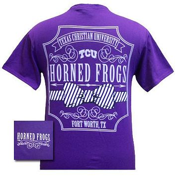SALE Texas TCU Horned Frogs Pattern Prep Bow Girlie Bright T Shirt