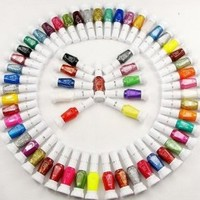 30 Colors Nail Art Two-Way Pen and Brush Varnish Polish: Beauty