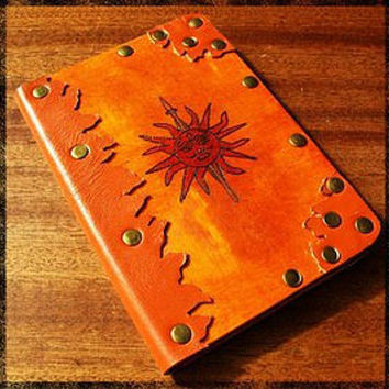 Game of thrones Passport cover Martell Orange house Martell Gift for friend Leather and wood Gift for fun Brass rivets Ukrainian Hand craft