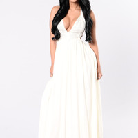 I Wanna Feel Joy Dress - Ivory