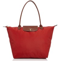 New Longchamp 'Large Le Pliage' Tote Purse Bag Handbag Burnt Red
